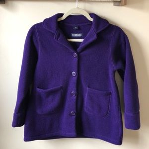 🎉 Lands End Purple Fleece Coat